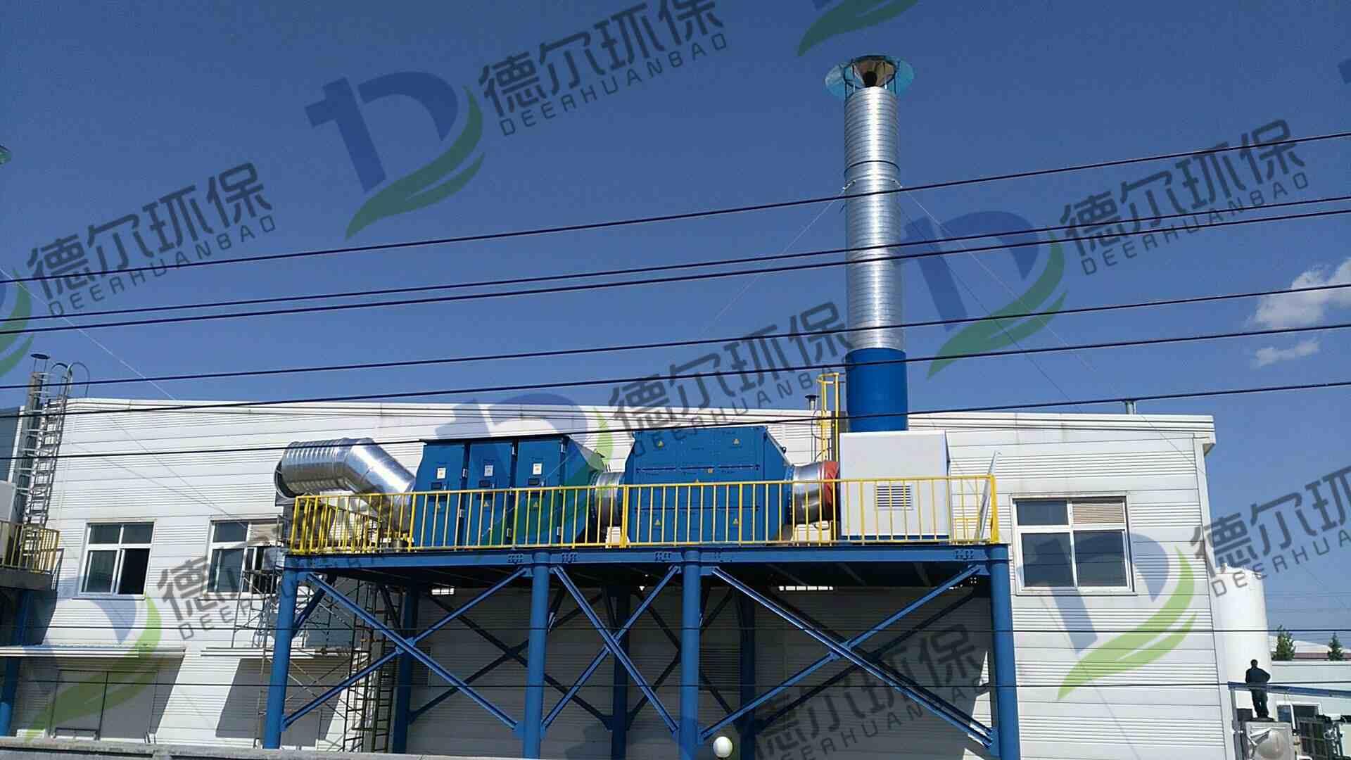 青岛某公司废气治理项目顺利竣工