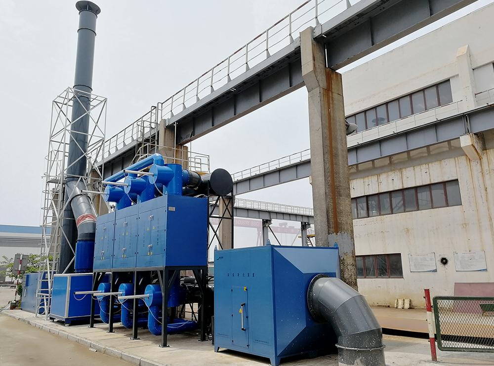 青岛某公司废气净化处理项目顺利竣工