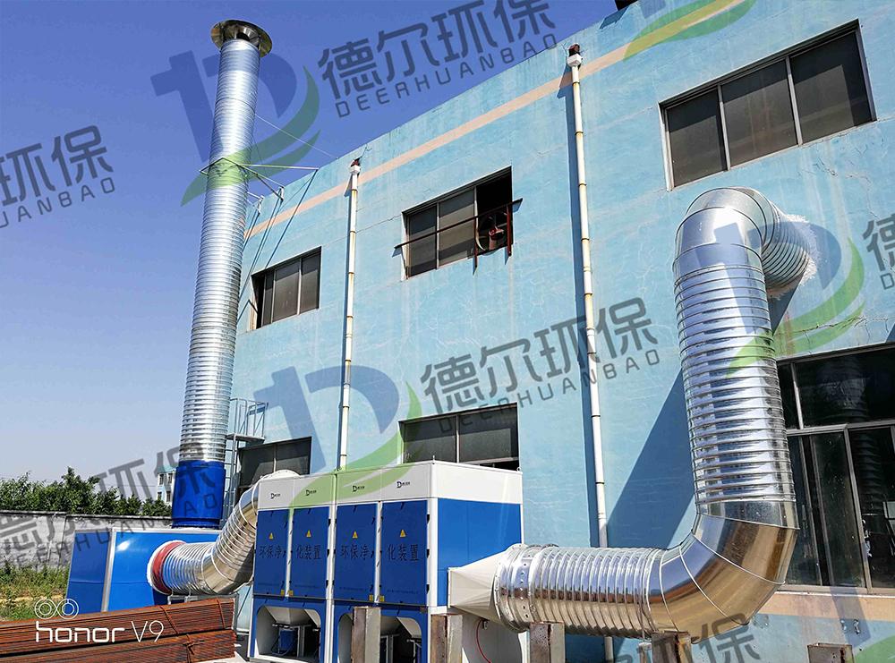 青岛某钢结构公司烟尘治理工程竣工