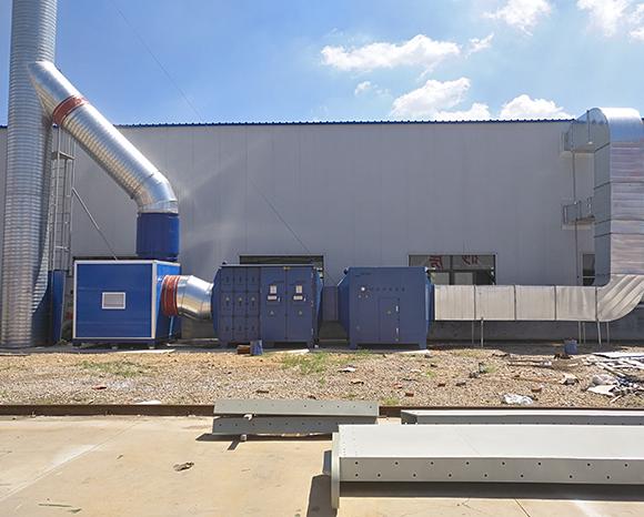 胶南某公司废气治理项目顺利完工