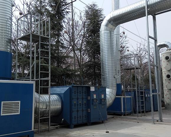 青岛某企业废气治理项目顺利完工