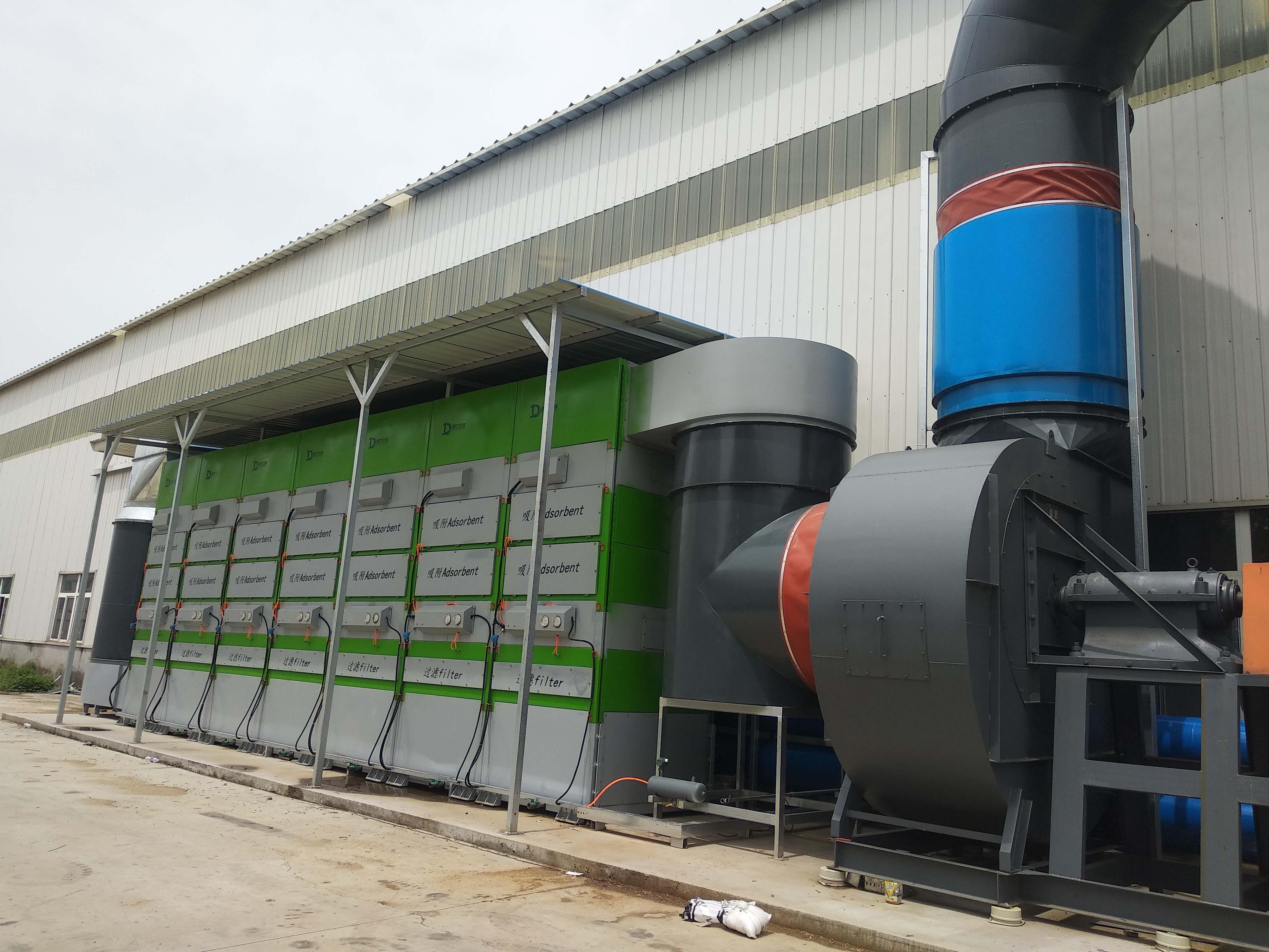 青岛某大型企业废气治理项目顺利完工