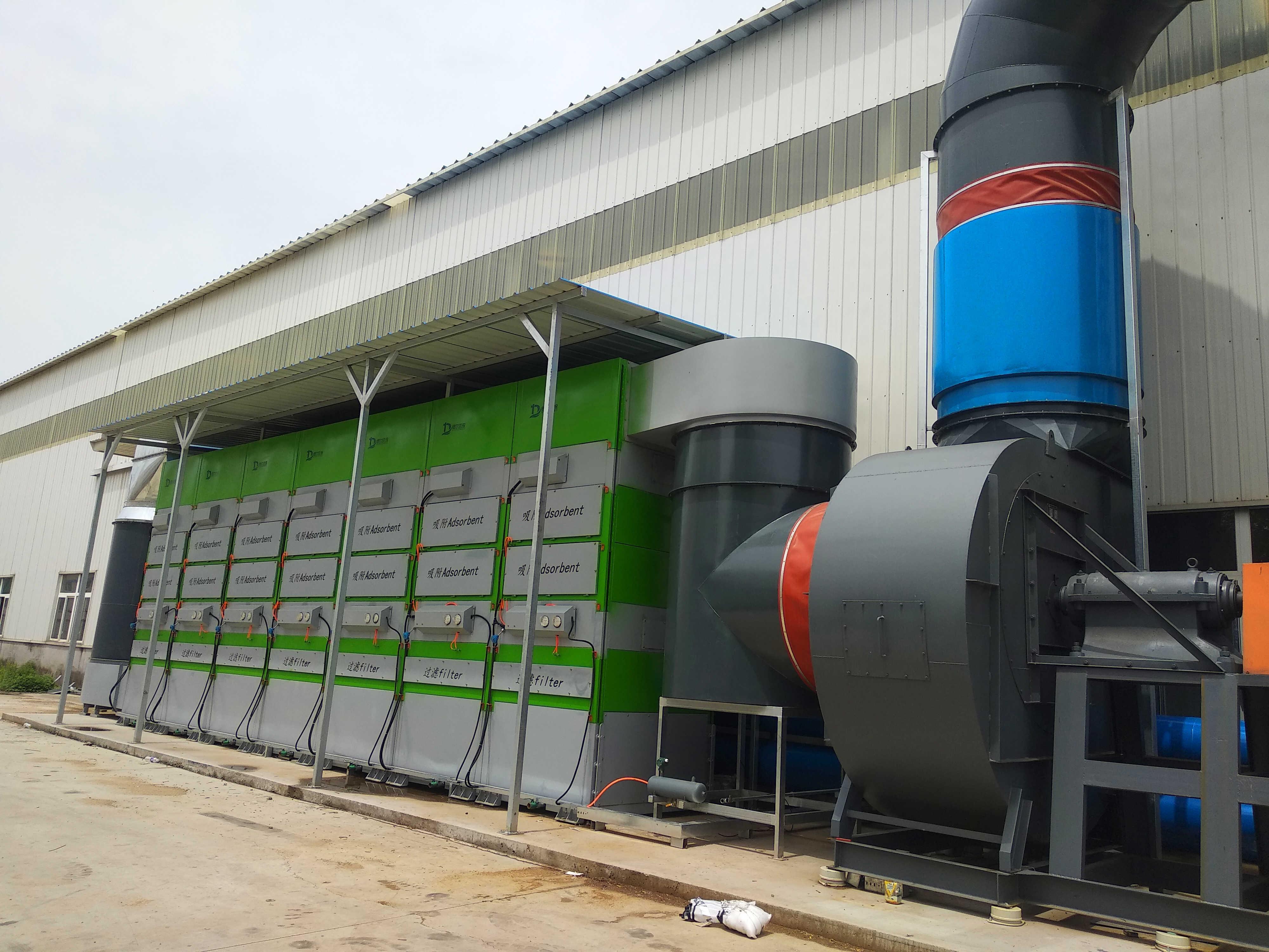 山东某大型企业废气治理项目顺利完工