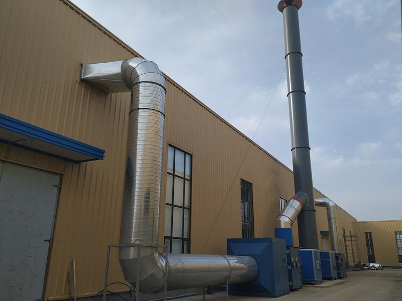 烟台某公司公司硫化车间废气治理项目顺利完工