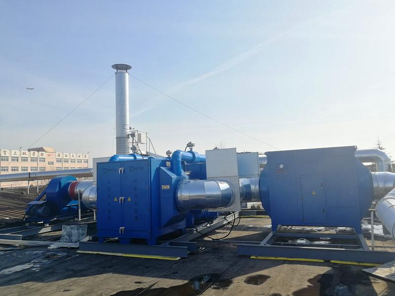 青岛双星名人车间废气治理系统项目顺利完工