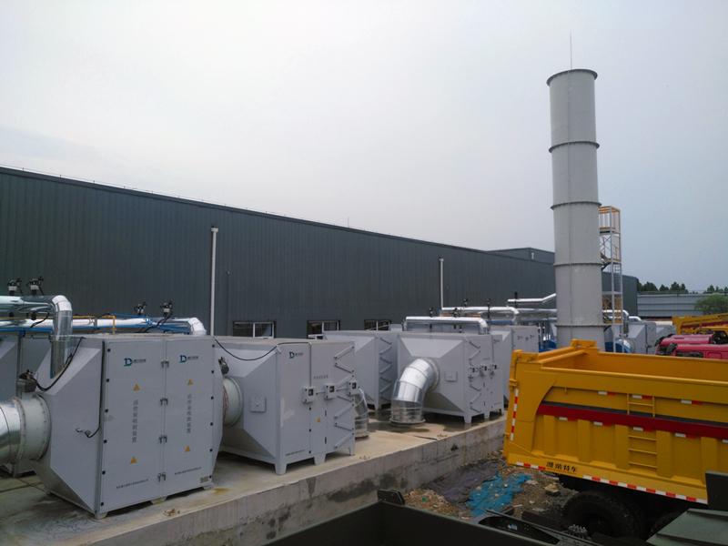 中国重汽集团车间喷漆废气治理项目顺利完工