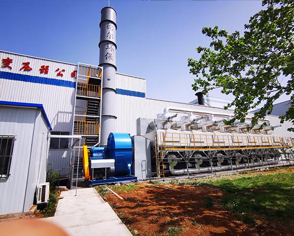 山东某企业涂装废气处理及在线监测系统项目